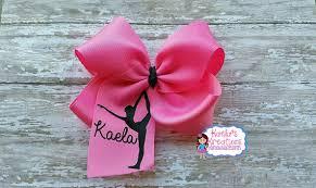ribbon for hair that says gymnastics gymnastic hair bows dance hair bows name gymnastic hair