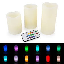 led flameless ivory candles set of 3 4 5 6 color changing