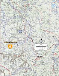 The Forest Map Wildfire Above Mogollon Rim Helping To Clean The Forest Arizona