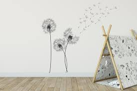 flower wall stickers archives fox and canvas dandelion wall stickers