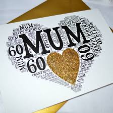 60th birthday cards for mum print birthday card free christmas happy
