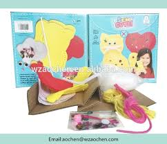 wenzhou sewing diy felt kit knitting doll kit for buy