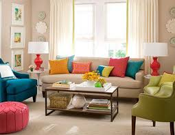 beautiful living room furniture interior casual modern living room designs with colorful decor