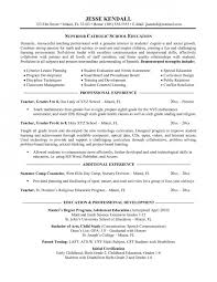 Spanish Teacher Resume Examples by Sample Resume For Christian Teacher Templates