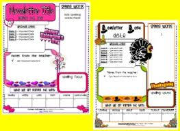 classroom newsletter templates free teacherspayteachers