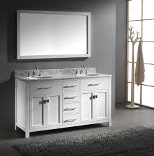 Double Vanity Sink Designs Open View Modern Bathroom Interior Decor Using Walnut Double Sink