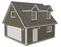 cabin garage plans g527 24 x 24 x 8 garage plans with loft and dormer render sds plans
