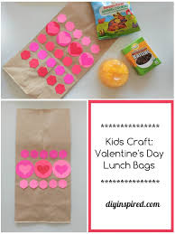 kid valentines kid s craft s day lunch bags diy inspired