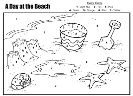10 images of beach day coloring pages beach color by number