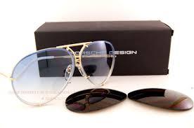 porsche design sunglasses porsche design sunglasses p8478 8478 w gold interchangeable lenses