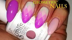 geometric ombre nail art design ii uv gel polish youtube