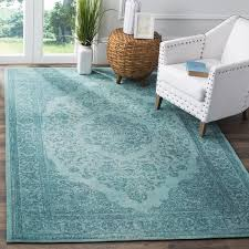 Over Dyed Distressed Rugs Safavieh Classic Vintage Overdyed Aqua Cotton Distressed Rug 5 U0027 X