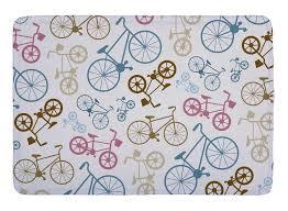 Pop Art Rugs Floor Mat Vector Bicycle Texture Pop Art Print Non Slip Rugs