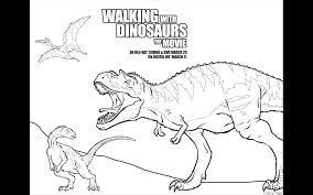 walking dinosaurs free printable coloring pages dvd