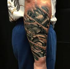 mechanical forearm with cogs best ideas designs tats
