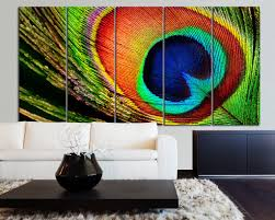 large canvas art 5 panel peacock feather canvas print peacock large canvas art 5 panel peacock feather canvas print peacock canvas art print wall