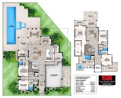 mirasol contemporary 2 story house plan features 4 bedrooms 5 5