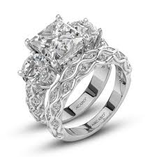 vancaro engagement rings princess cut three sterling silver engagement rings