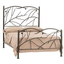 bedding elegant wrought iron bed frame cast frames home design