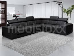 canapé d angle commandeur canapé d angle kamara 3 2 places éco cuir noir chez mobistoxx