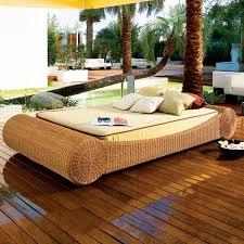 canap lounge design exterieur canapé lounge salon terrasse résine tressée beige