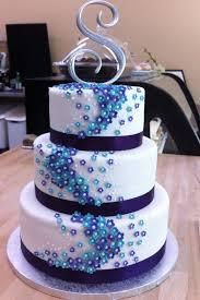 purple and turquoise wedding cake u2014 liviroom decors adorable