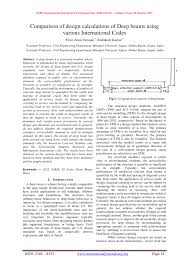 comparison of design calculations of deep beams using various