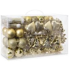 set of 72 handcrafted assorted ornaments gold best