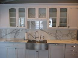 kitchen backsplash white mosaic marble tile backsplash and