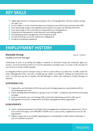 Resume Key Skills Examples Aged Care Resume Sample Resume Cv Cover Letter