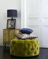 ottoman pink and gold tufted ottoman pottery barn teen tufted