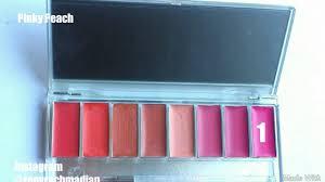Lipstik Wardah wardah lipstick palette lip swatches