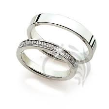 wedding bands for couples 14k white gold wedding rings 0 15 carats 3 0 mm 4 0 mm