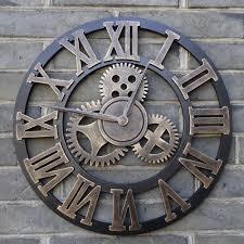 handmade 3d retro rustic decorative clock latest wallclocks