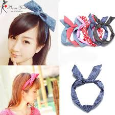 korean headband fashion korean rabbit ear ribbon headbrand us 3 99 sold out