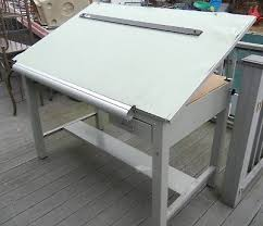 Steel Drafting Table Lighted Drafting Table Heavy Metal Desk Drawing Board With