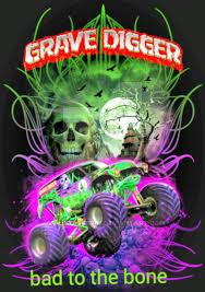 grave digger monster truck poster grave digger bad to the bone by gravedigger67 on deviantart