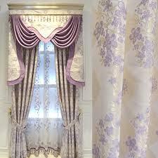 Purple Bedroom Curtains Modern Warm Purple Bedroom Curtain Finished European Style