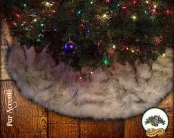 faux fur tree skirt etsy