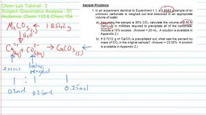 gravimetric analysis 02 study guide problem solving youtube
