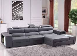 Leather Sectional Sofa With Chaise by Gray Leather Sectional Sofas Alleycatthemes Com