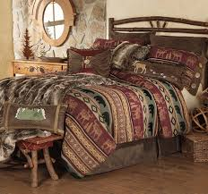 Rustic Themed Bedroom - lake themed bedding rustic bedding cabin bedding black forest