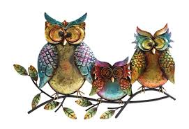 Owl Canisters For The Kitchen Red Barrel Studio Owl Family Of Three Outdoor Wall Decor U0026 Reviews