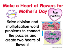 happy mother u0027s day multiplication and division word problem