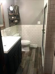 subway tile bathroom floor ideas wood tile bathroom floor bolin roofing