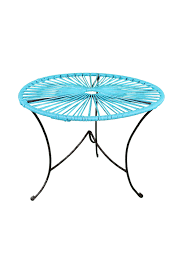 Blue Accent Table Round Side Table Acapulco Accent Blue