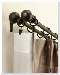 Amazing Double Curtain Rod Design by Double Curtain Rod Set 144 Inches Curtain Ideas