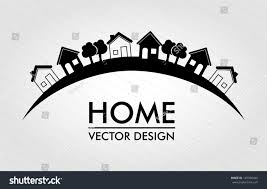 home design over lines background vector stock vector 145326040