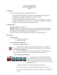 the order of adjectives demonstartion plan