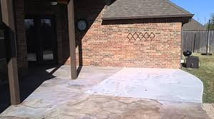 Concrete Patio Resurfacing by Stained Concrete Patio Resurface Youtube